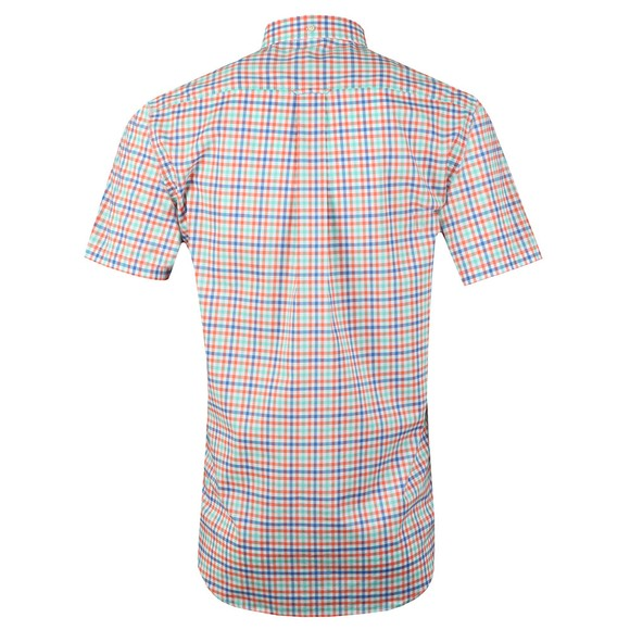 Gant Mens Orange 3 Colour Gingham SS Shirt main image