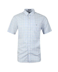 Gant Mens Blue 3 Colour Gingham SS Shirt