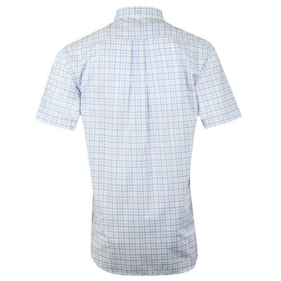 Gant Mens Blue 3 Colour Gingham SS Shirt main image