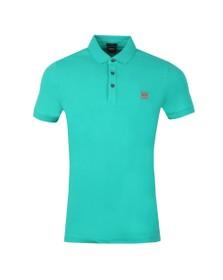 BOSS Mens Green Casual Passenger Polo Shirt