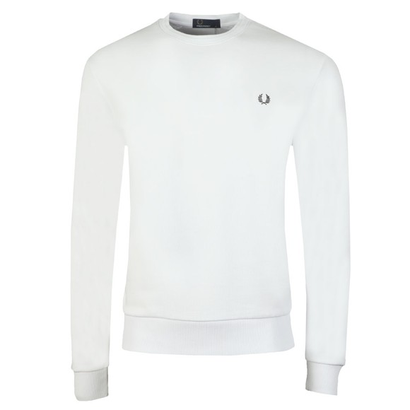 Fred Perry Mens White Back Terry Laurel Sweat