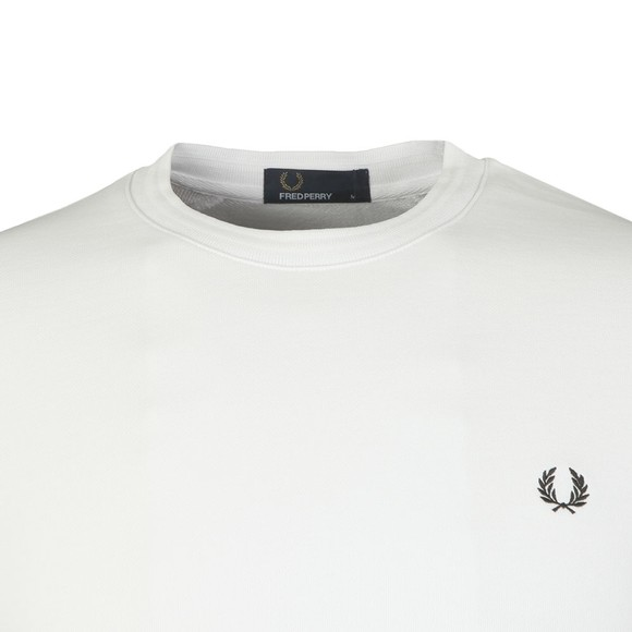 Fred Perry Mens White Back Terry Laurel Sweat main image