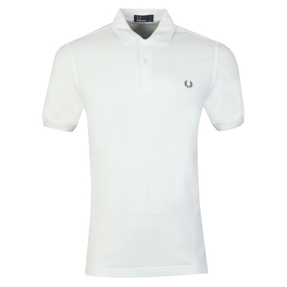 Fred Perry Mens White Laurel Wreath Polo main image