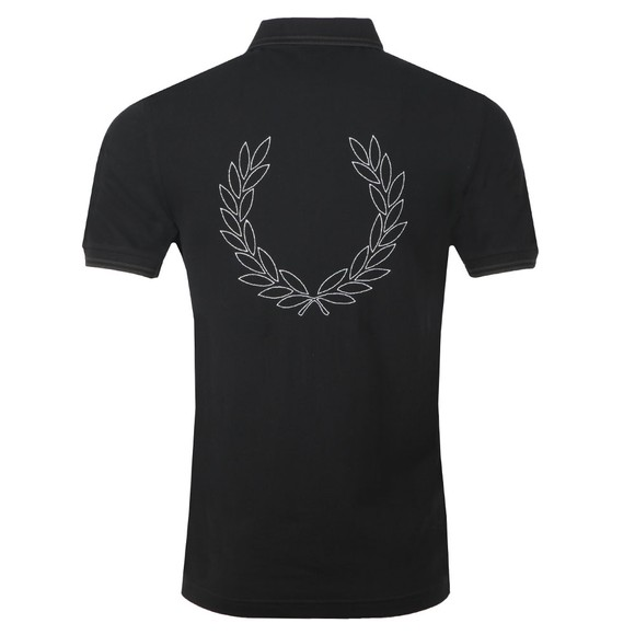 Fred Perry Mens Black Laurel Wreath Polo main image