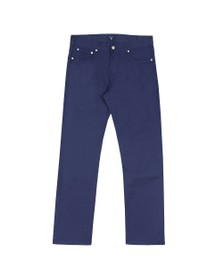 Gant Mens Blue Regular Straight Linen Jean