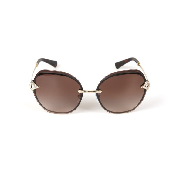 Bvlgari Womens Brown BV6111 Sunglasses