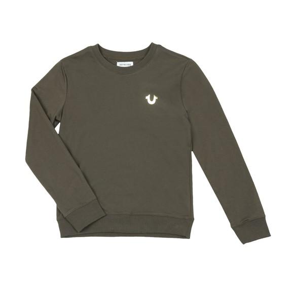 True Religion Boys Green Buddha Pullover Sweatshirt