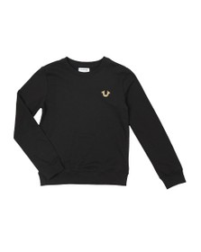 True Religion Boys Black Buddha Pullover Sweatshirt