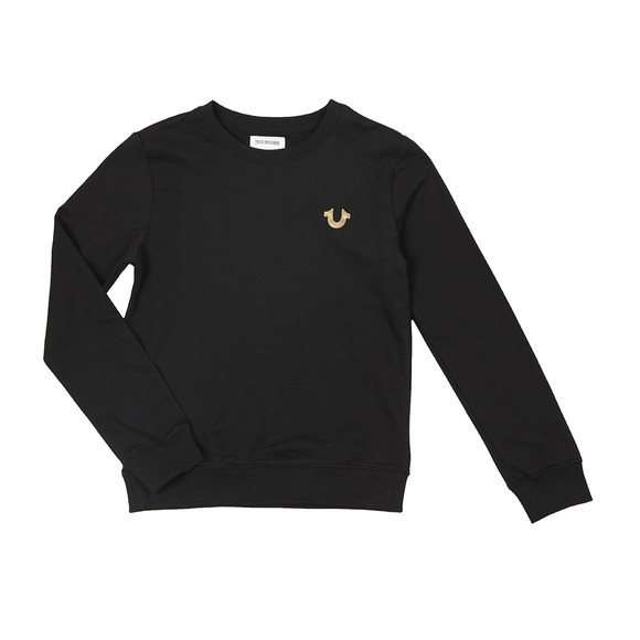 True Religion Boys Black Buddha Pullover Sweatshirt