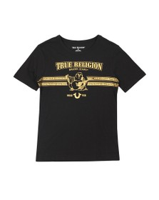 True Religion Boys Black Buddha T Shirt