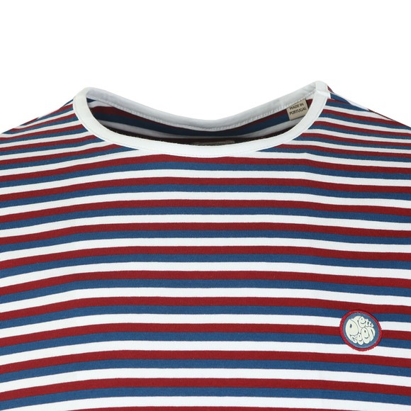 Pretty Green Mens Blue Feeder Stripe Tee main image