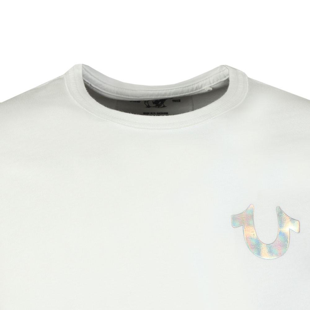 5f088b1302b3b8 True Religion Holographic Silver Puff T Shirt | Oxygen Clothing