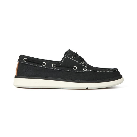 Timberland Mens Black Gateway Pier Boat Shoe main image