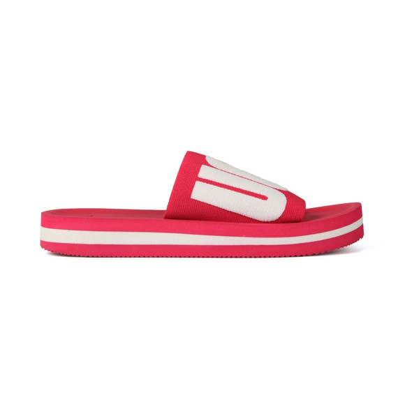 Ugg Womens Pink Zuma Graphic Slide