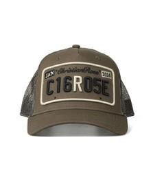 Christian Rose Mens Green Private Plate Cap