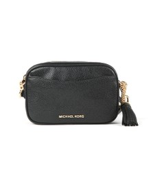 Michael Kors Womens Black Crossbody Tassel Leather Bag