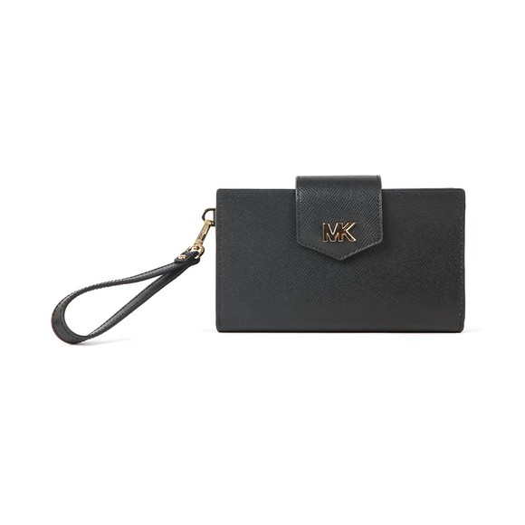 Michael Kors Womens Black Snap Wristlets main image