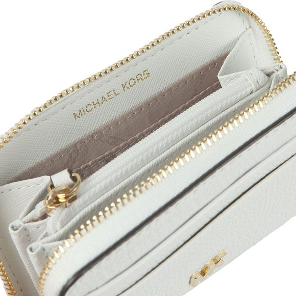 Michael Kors Womens White Pebbled Leather Purse main image