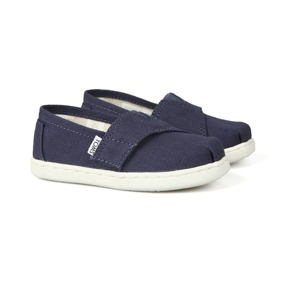 Toms Boys Blue Classic Navy Canvas