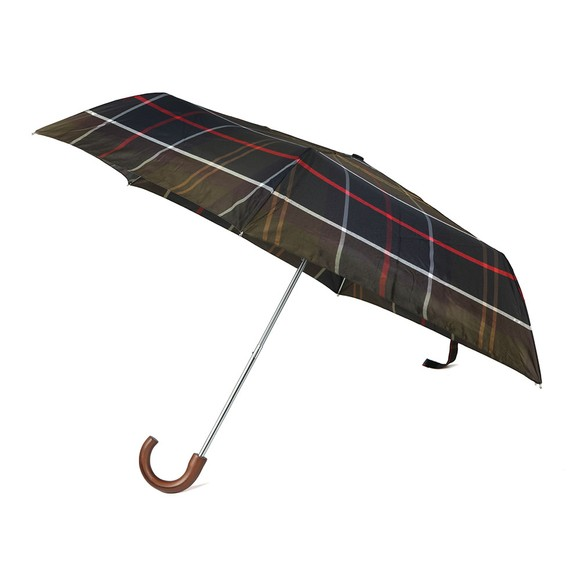 Barbour Lifestyle Mens Green Tartan Mini Umbrella
