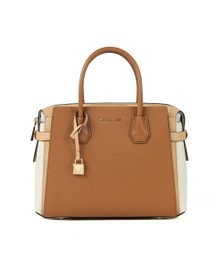 Michael Kors Womens Brown Mercer Pebbled Leather Satchel