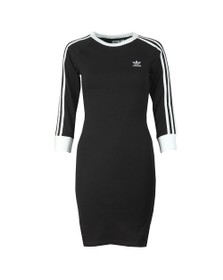adidas Originals Womens Black 3 Stripes Dress