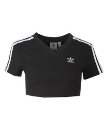 adidas Originals Womens Black Cropped T Shirt