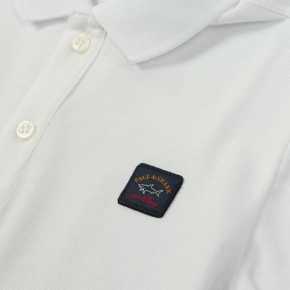 Paul & Shark Cadets Boys White Chest Badge Polo Shirt main image