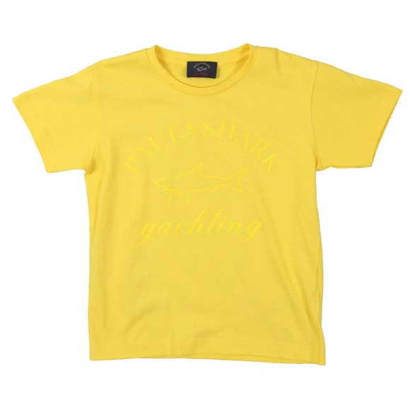 Paul & Shark Cadets Boys Yellow Large Logo T Shirt