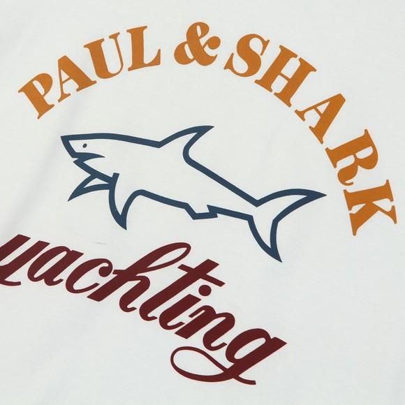 Paul & Shark Cadets Boys White Large Logo T Shirt main image