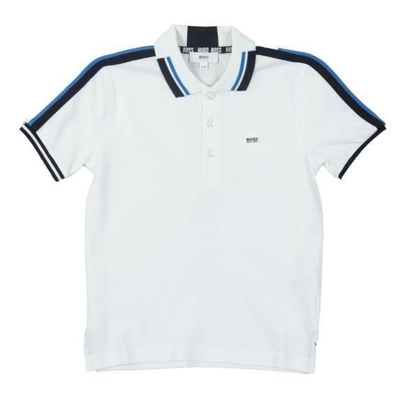 BOSS Boys White Boys J25D47 Polo Shirt