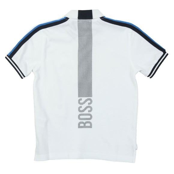 BOSS Boys White Boys J25D47 Polo Shirt main image