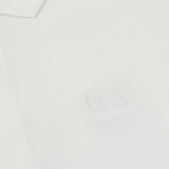 BOSS Boys White Boys J25P19 Plain Polo Shirt main image