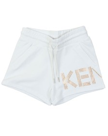 Kenzo Kids Girls White Logo Jersey Short