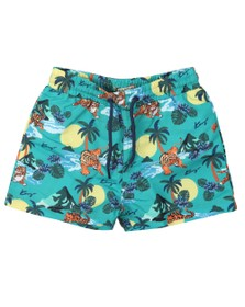 Kenzo Baby Boys Green Hawai Kenzo Swim Short