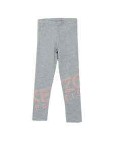 Kenzo Kids Girls Grey Logo Legging