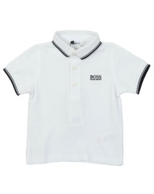 BOSS Baby Boys White Tipped Polo Shirt