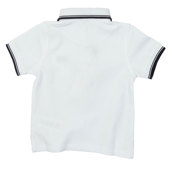 BOSS Baby Boys White Tipped Polo Shirt main image