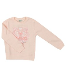Kenzo Kids Girls Pink Embroidered Tiger Sweatshirt