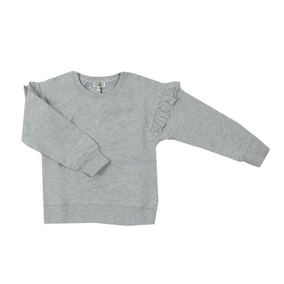 Kenzo Kids Girls Grey Ruffle Sleeve Sweatshirt