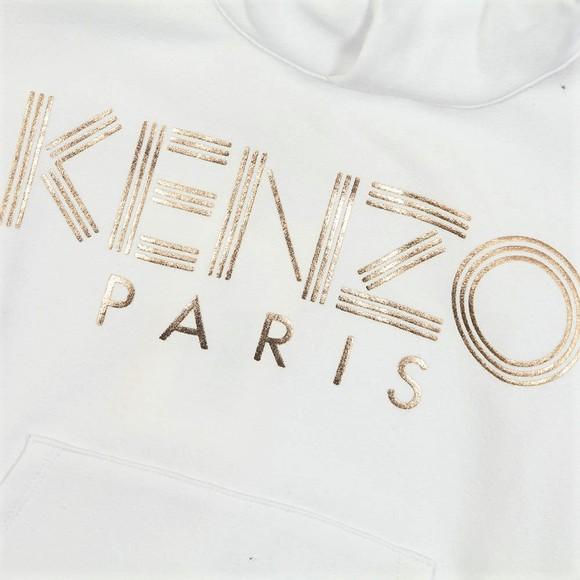 Kenzo Kids Girls White Logo Overhead Hoody