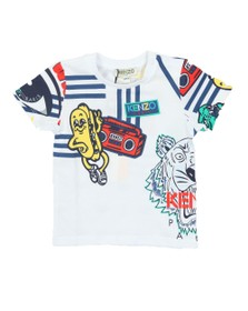 Kenzo Baby Boys White Fino Wax Kenzo T Shirt