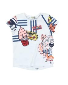 Kenzo Kids Girls White Franca Wax Kenzo T Shirt