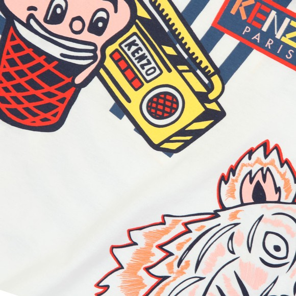 Kenzo Kids Girls White Franca Wax Kenzo T Shirt main image