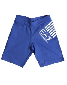 EA7 Emporio Armani Boys Blue Boys Side Logo Jersey Short