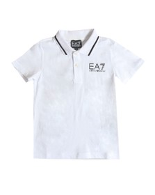 EA7 Emporio Armani Boys White Boys Tipped Polo Shirt