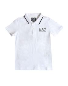 EA7 Emporio Armani Boys White Boys Tipped Polo Shirt