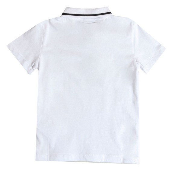 EA7 Emporio Armani Boys White Boys Tipped Polo Shirt main image