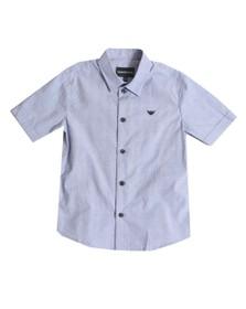 Emporio Armani Boys Blue Boys Small Check Shirt