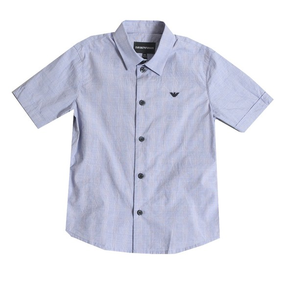 Emporio Armani Boys Blue Boys Small Check Shirt
